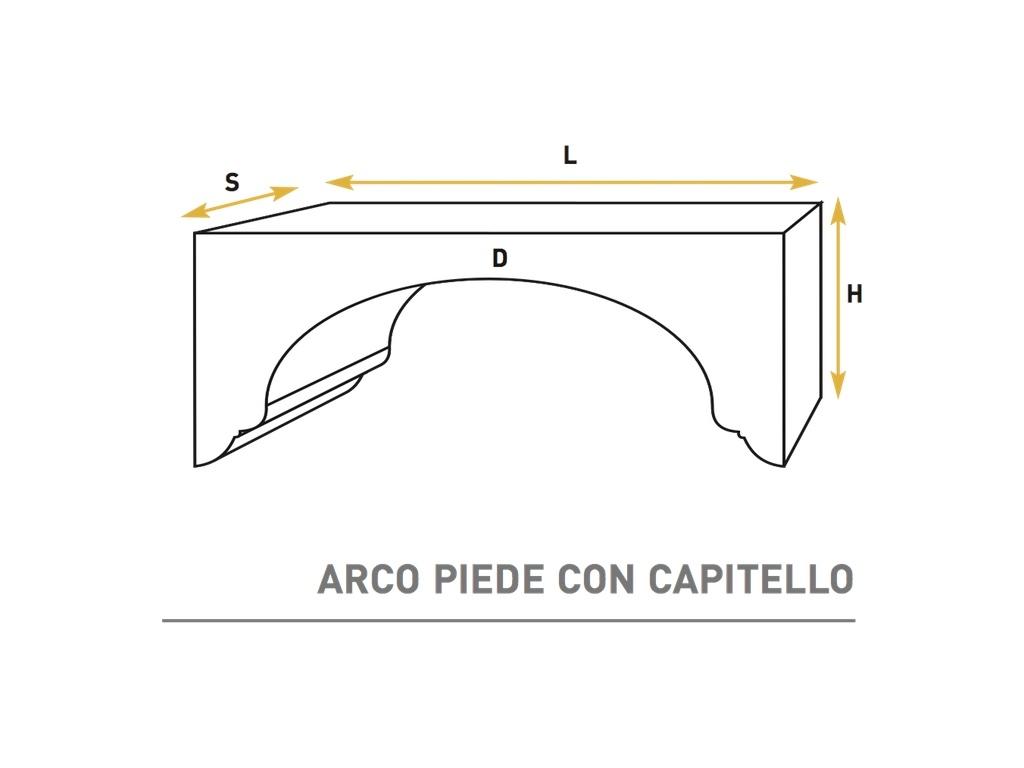 Arco Piede Con Capitello - Arco in polistirene - Decorget - Ital Decori - Image 0