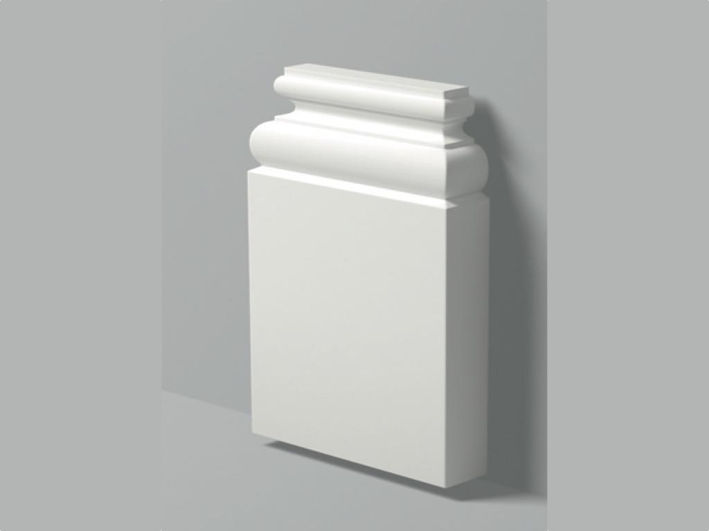 Base Pb 1 - Base in poliuretano bianco - Decorget - Ital Decori - Image 0