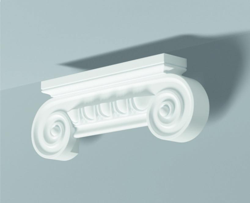 Capitello Pc 1 - Capitello in poliuretano bianco - Decorget - Ital Decori - Image 0