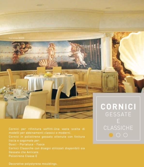 Castello Gessato - Cornice in polistirene gessato bianco - Decorget - Ital Decori - Image 1