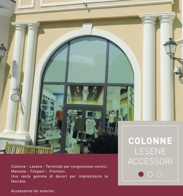 Col 30 - Colonna in polistirene spalmato con graniglie - Decorget - Ital Decori - Image 3