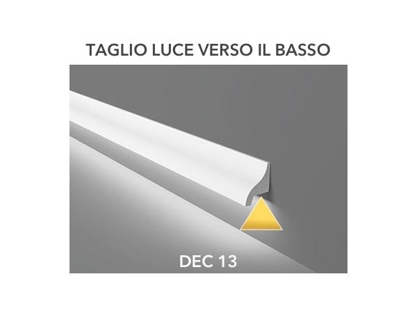 Dec 13 - Veletta cornice per led in polimero bianco - Decorget - Ital Decori - Image 2