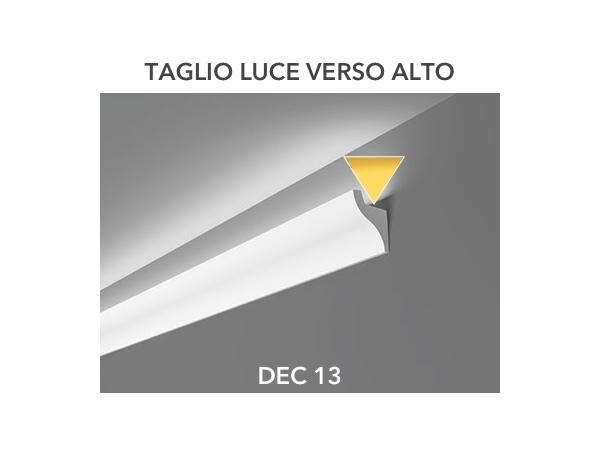 Dec 13 - Veletta cornice per led in polimero bianco - Decorget - Ital Decori - Image 1