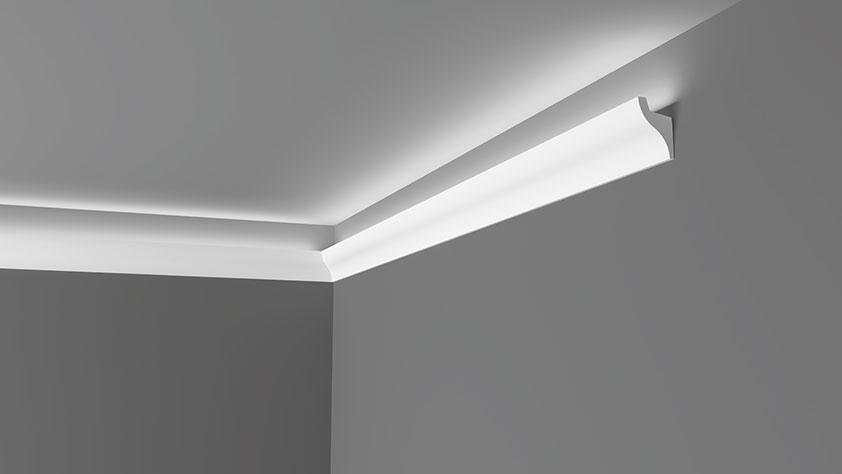 Dec 13 - Veletta cornice per led in polimero bianco - Decorget - Ital Decori - Image 0