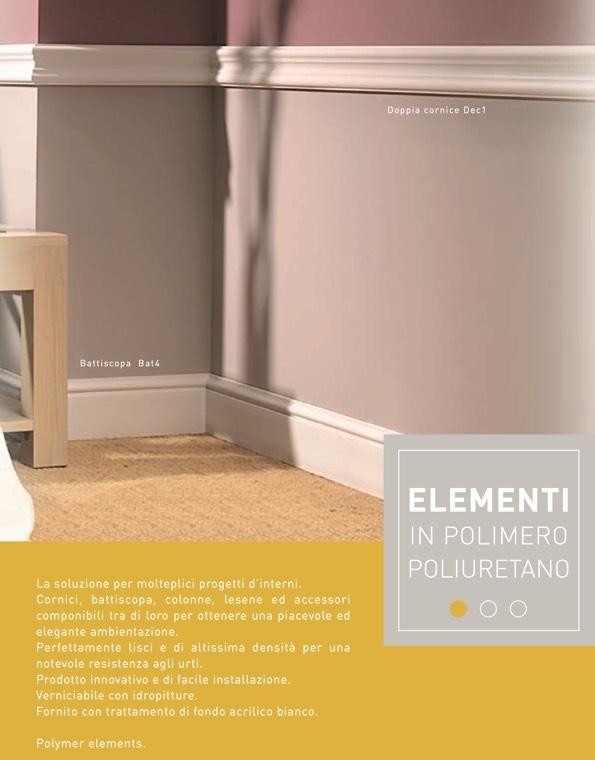 Dec 5 - Cornice in polimero bianco - Decorget - Ital Decori - Image 1
