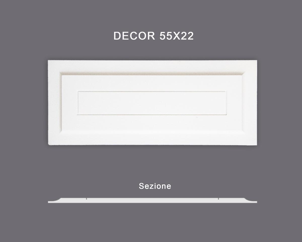 Decor 55x22 - Pannello in MDF Light bianco - Decorget - Ital Decori - Image 0