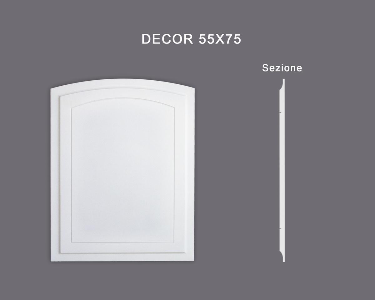 Decor 55x75 - Pannello in MDF Light bianco - Decorget - Ital Decori - Image 0