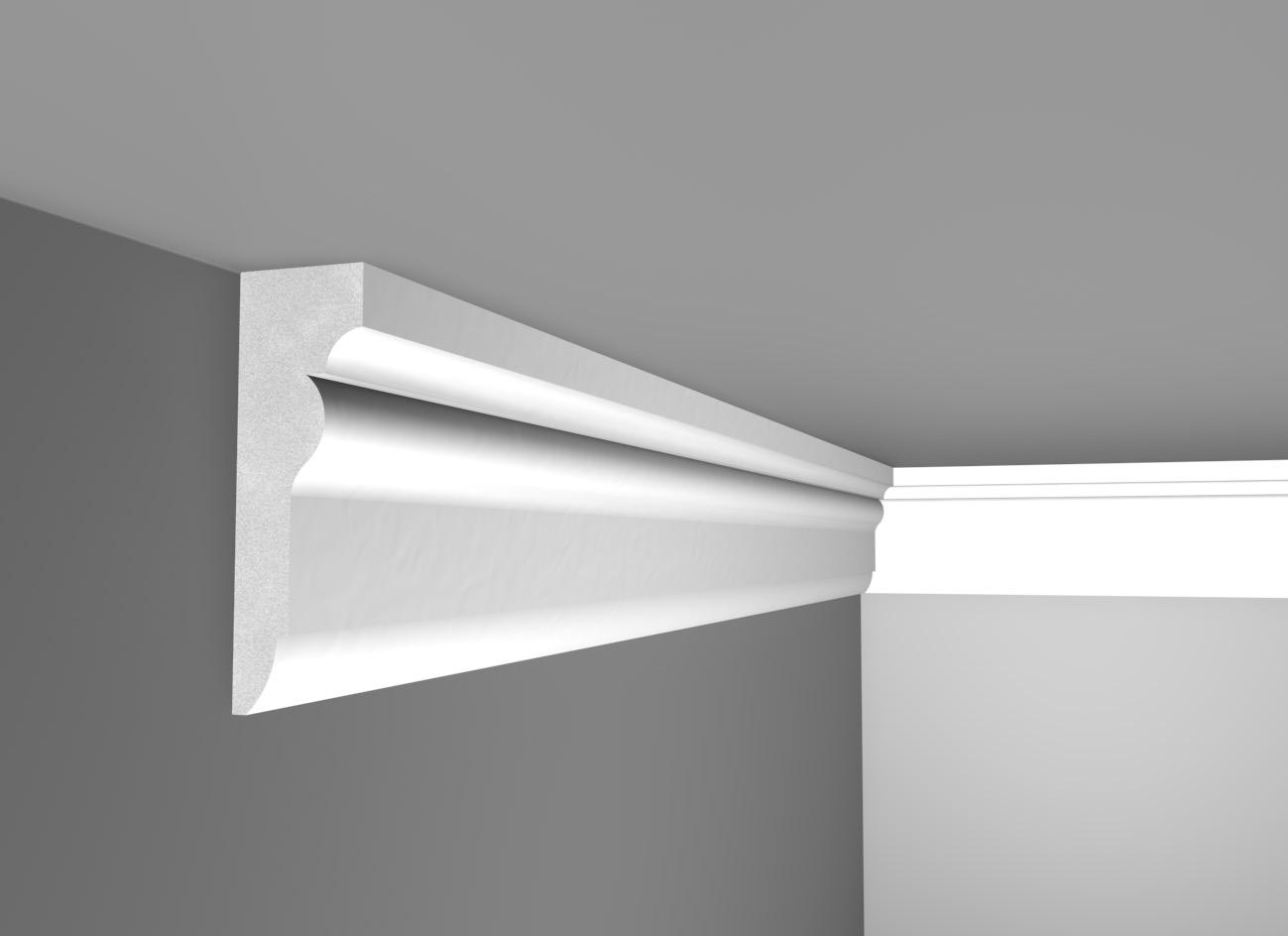 E 14 - Cornice in polistirene gessato bianco - Decorget - Ital Decori - Image 0
