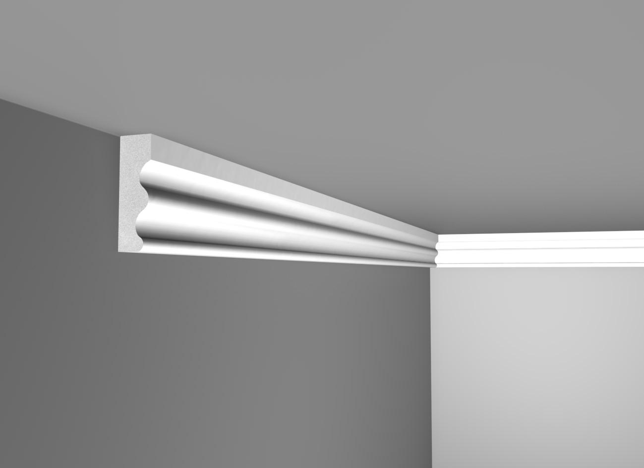 E 70 - Cornice in polistirene gessato bianco - Decorget - Ital Decori - Image 0