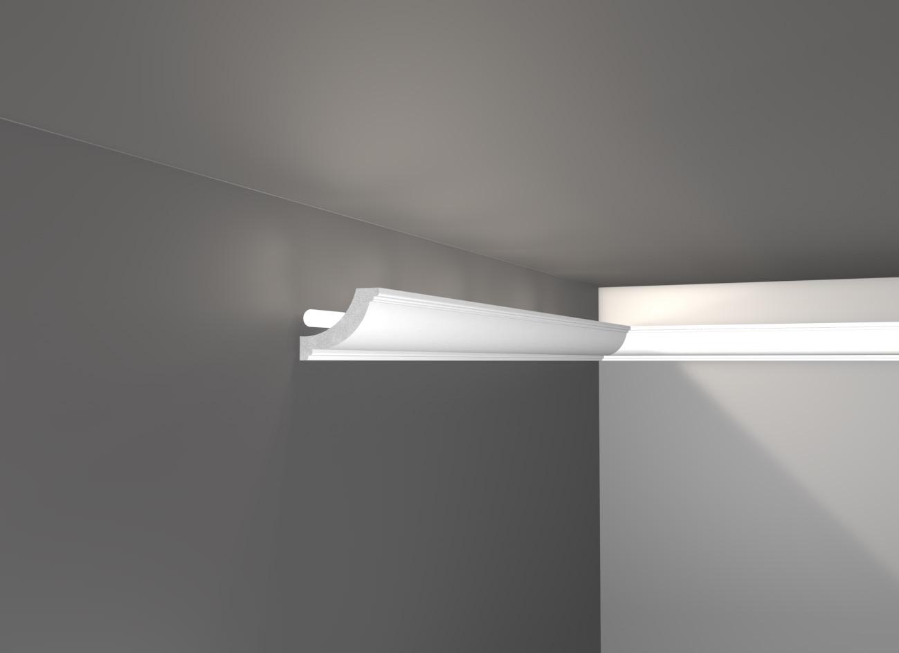 E 79 - Veletta cornice in polistirene gessato bianco - Decorget - Ital Decori - Image 0