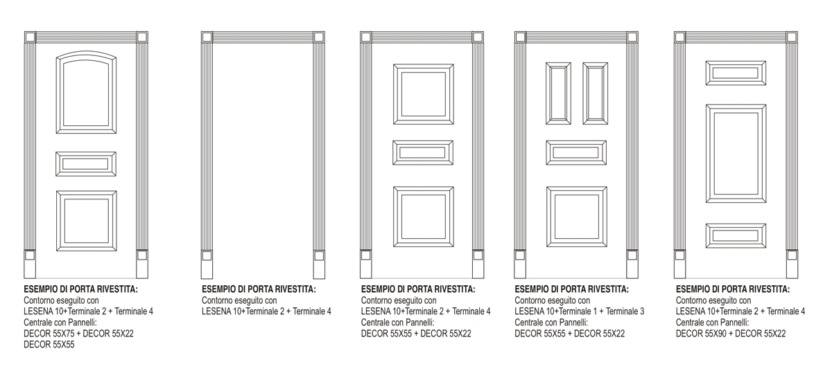 Terminale 2 - Composizione per porte e boiserie - Decorget - Ital Decori - Image 2