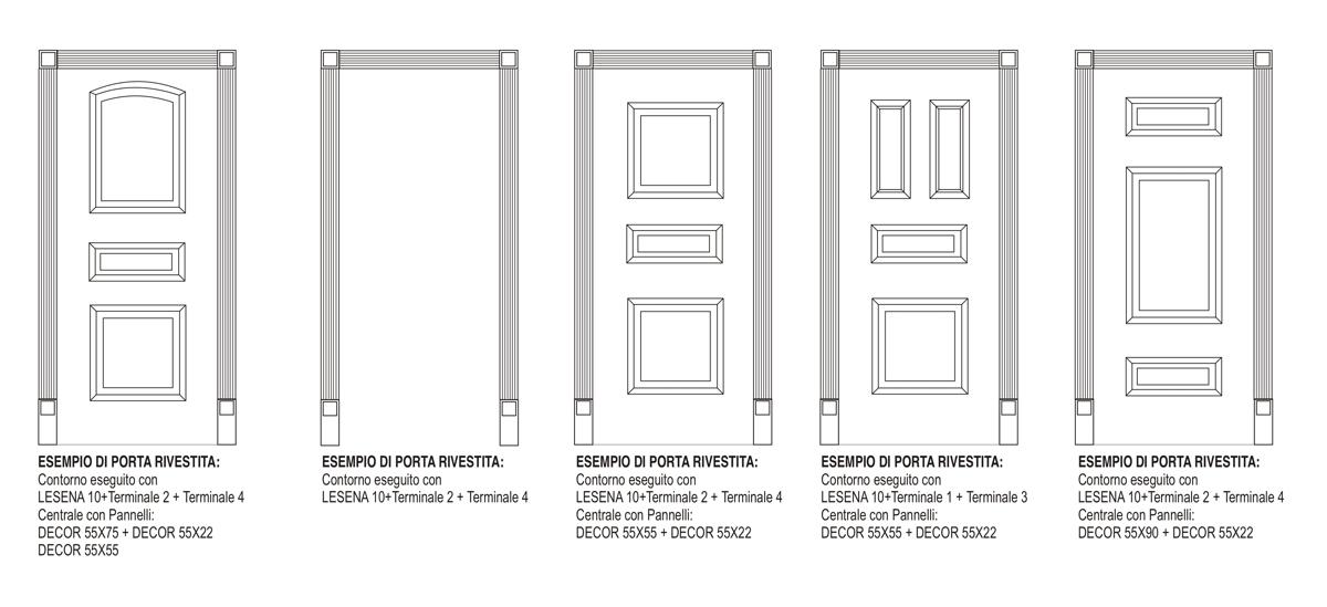 Terminale 1 - Composizione per porte e boiserie - Decorget - Ital Decori - Image 3