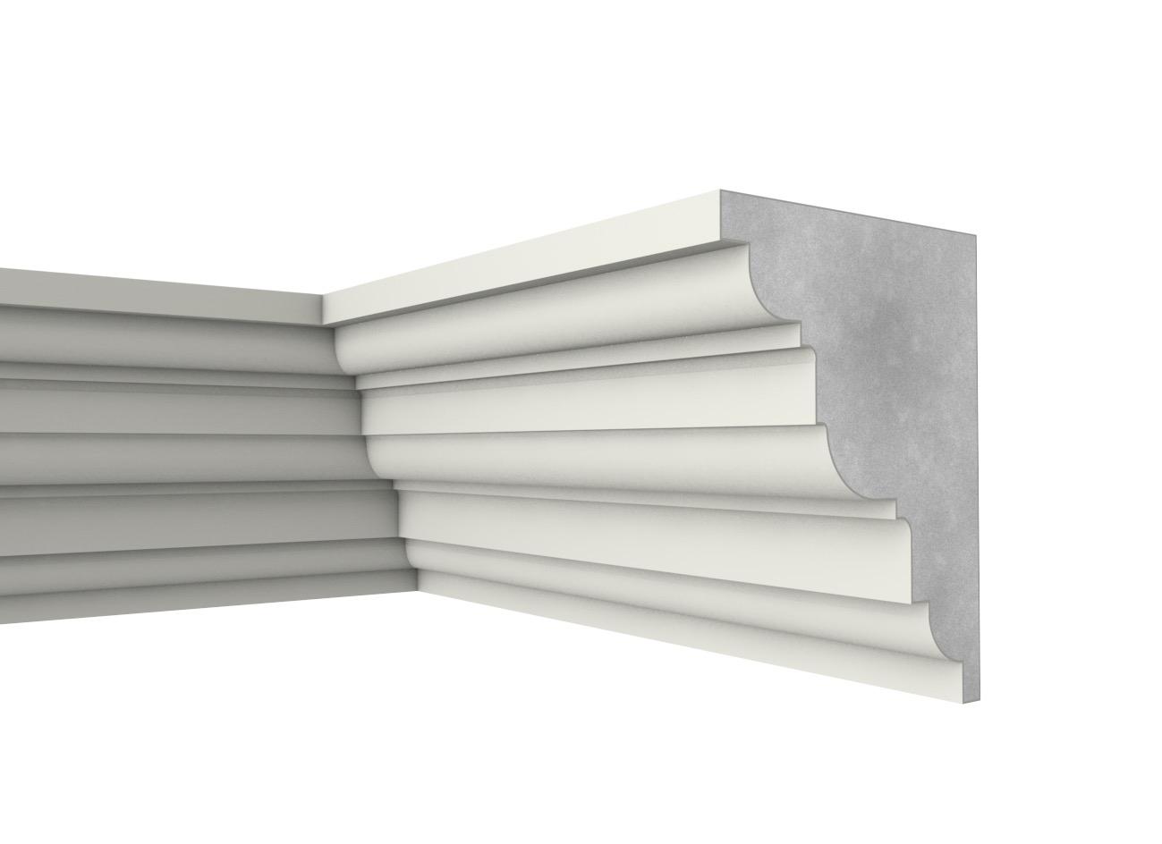 Fb 40 - Cornicione e sottogronda in polistirene spalmato con graniglie - Decorget - Ital Decori - Image 0