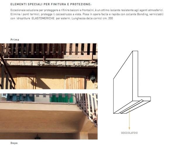 Front 24 - Cornice per balconi e frontalini - Decorget - Ital Decori - Image 3