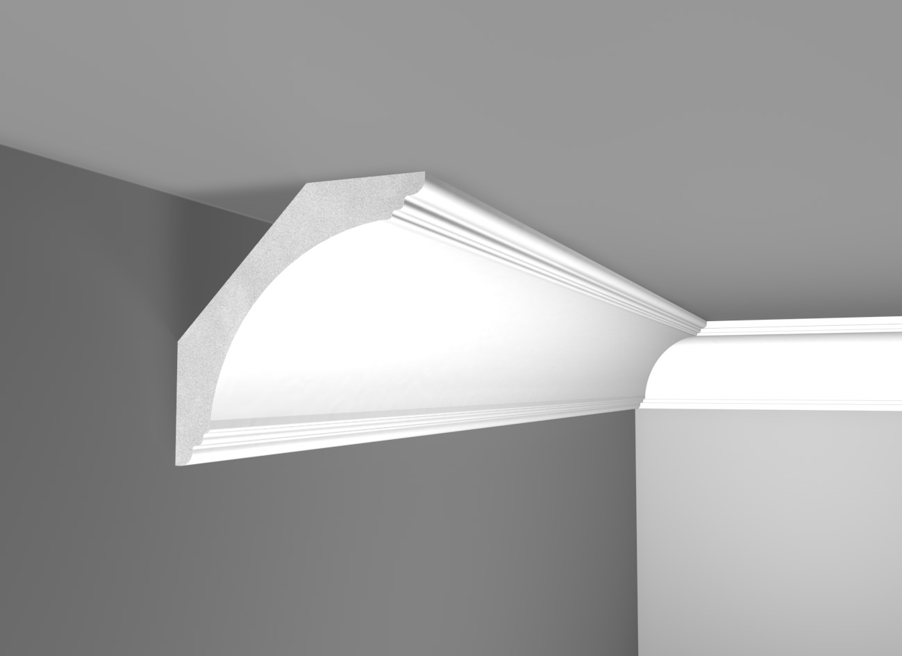 G 120 - Cornice in polistirene gessato bianco - Decorget - Ital Decori - Image 0