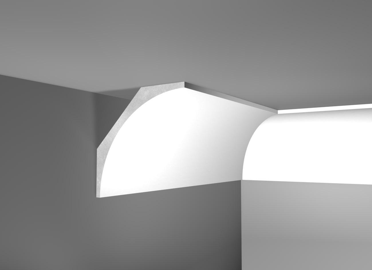G 35 - Cornice in polistirene gessato bianco - Decorget - Ital Decori - Image 0