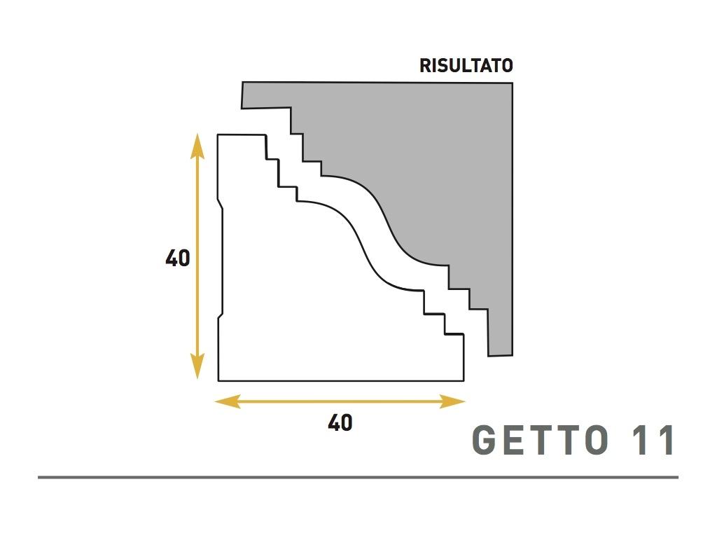 Getto 11 - Cornice sagomata in polistirene espanso - Decorget - Ital Decori - Image 0