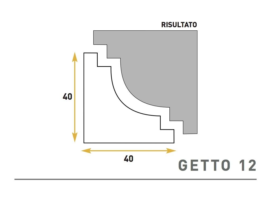 Getto 12 - Cornice sagomata in polistirene espanso - Decorget - Ital Decori - Image 0