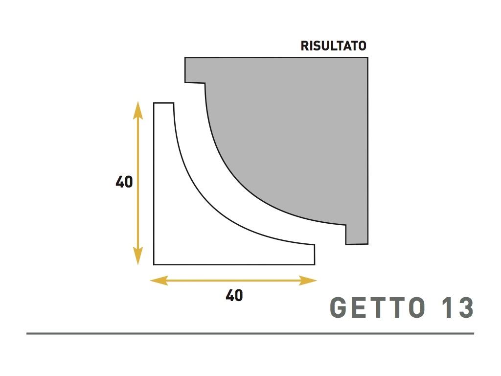 Getto 13 - Cornice sagomata in polistirene espanso - Decorget - Ital Decori - Image 0