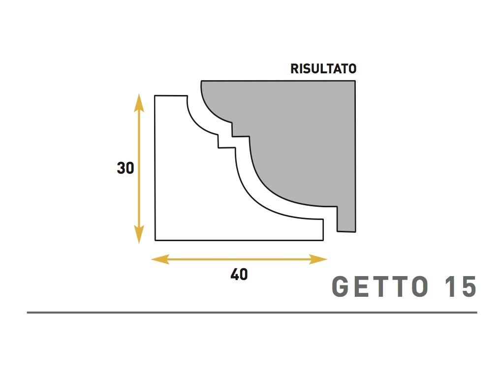 Getto 15 - Cornice sagomata in polistirene espanso - Decorget - Ital Decori - Image 0