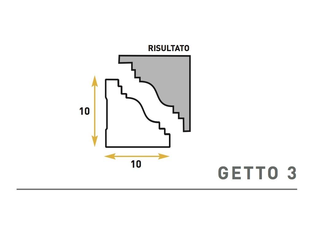 Getto 3 - Cornice sagomata in polistirene espanso - Decorget - Ital Decori - Image 0