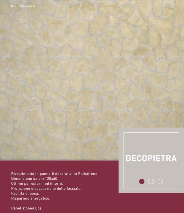 Gran Sasso Ocra - Decopietra Pannello 120x60 spessore 4CM - Decorget - Ital Decori - Image 1