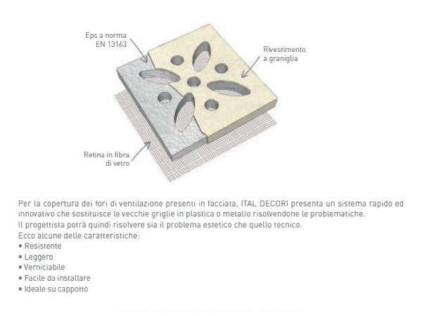 Griglia 12 - Griglia di ventilazione per cappotto - Decorget - Ital Decori - Image 1