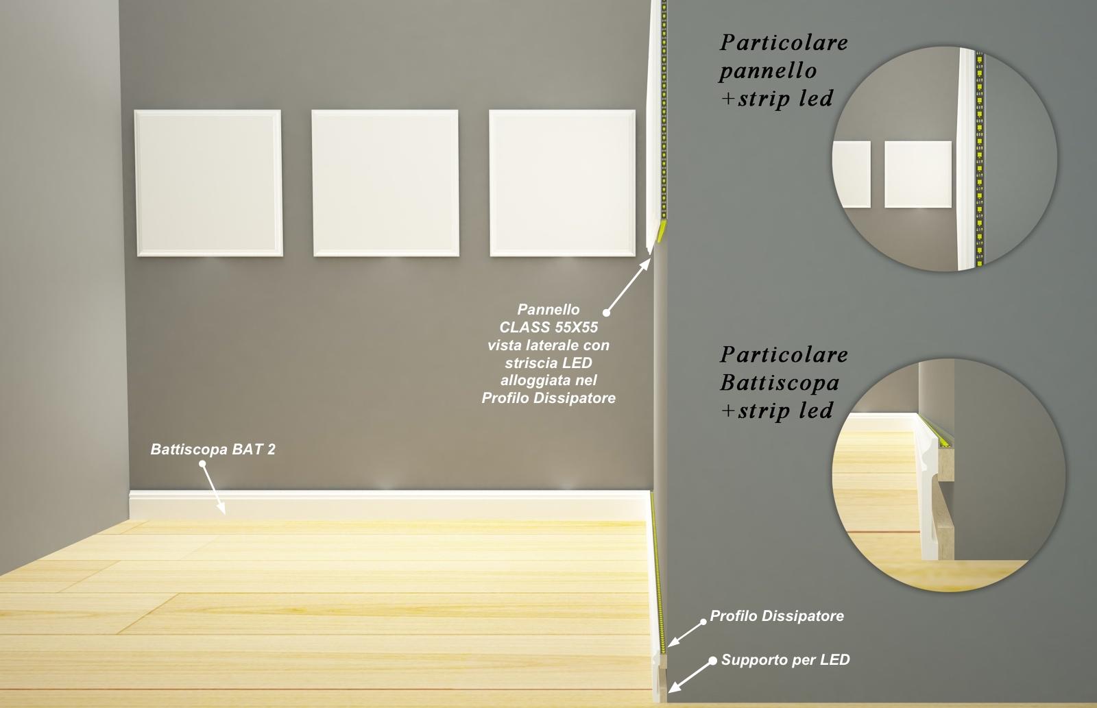 Supporto per Led in MDF Light grezzo - Decorget - Ital Decori - Image 1