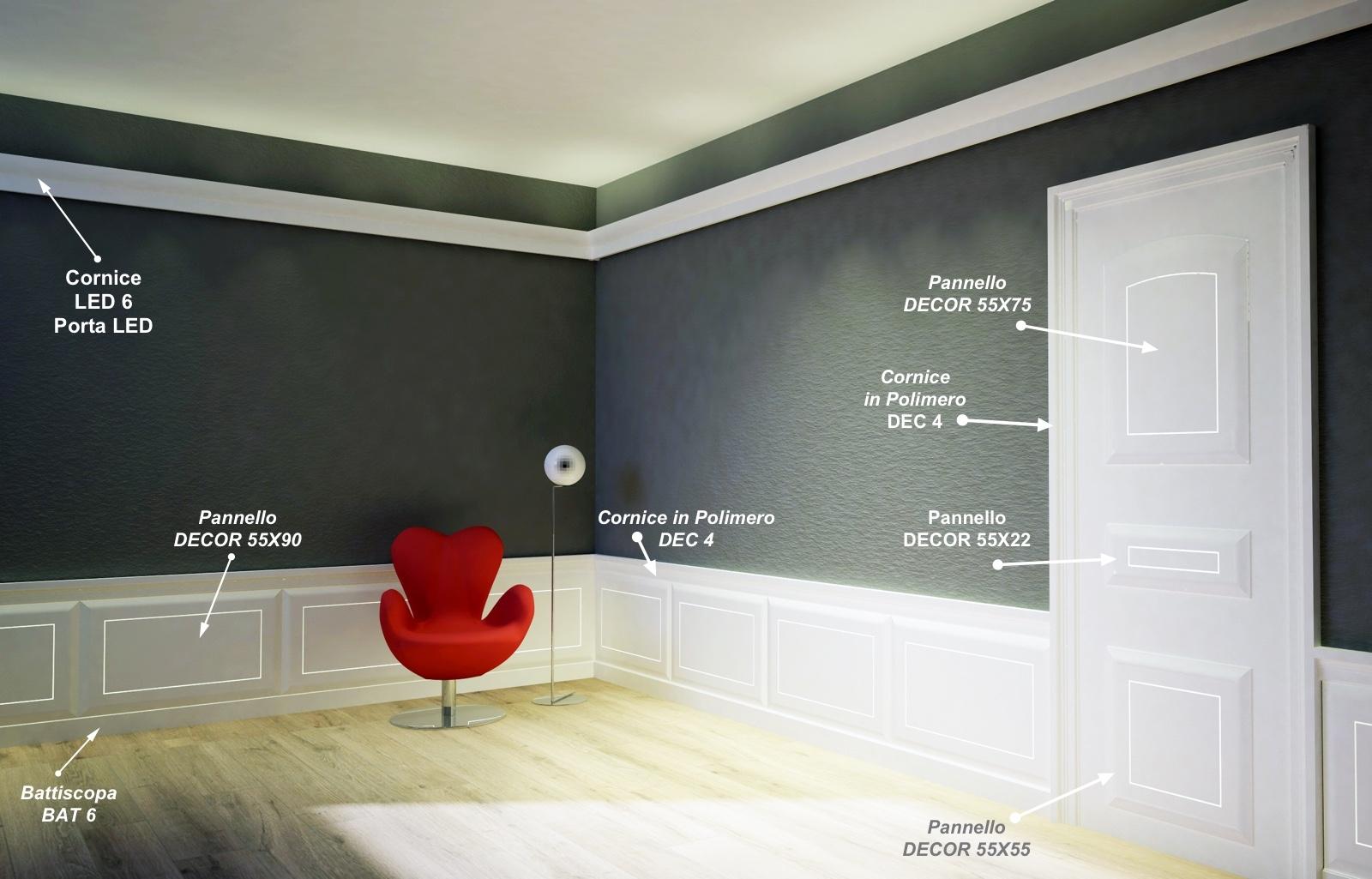 Decor 55x75 - Pannello in MDF Light bianco - Decorget - Ital Decori - Image 1