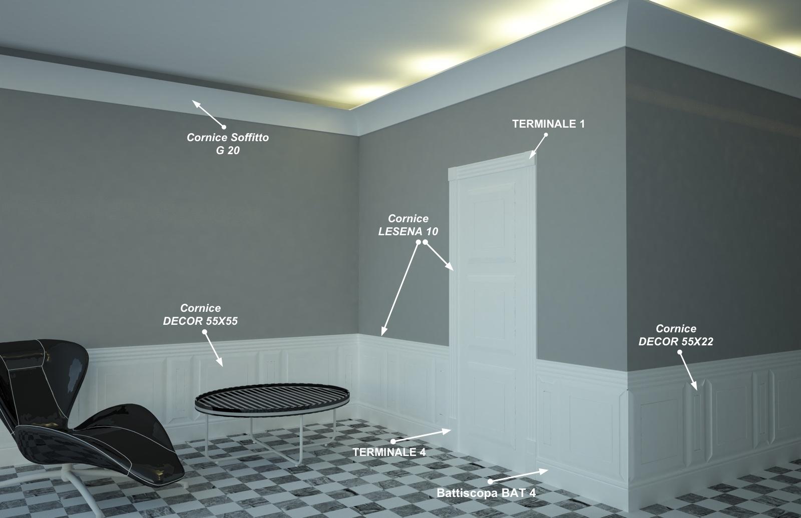 Terminale 1 - Composizione per porte e boiserie - Decorget - Ital Decori - Image 1