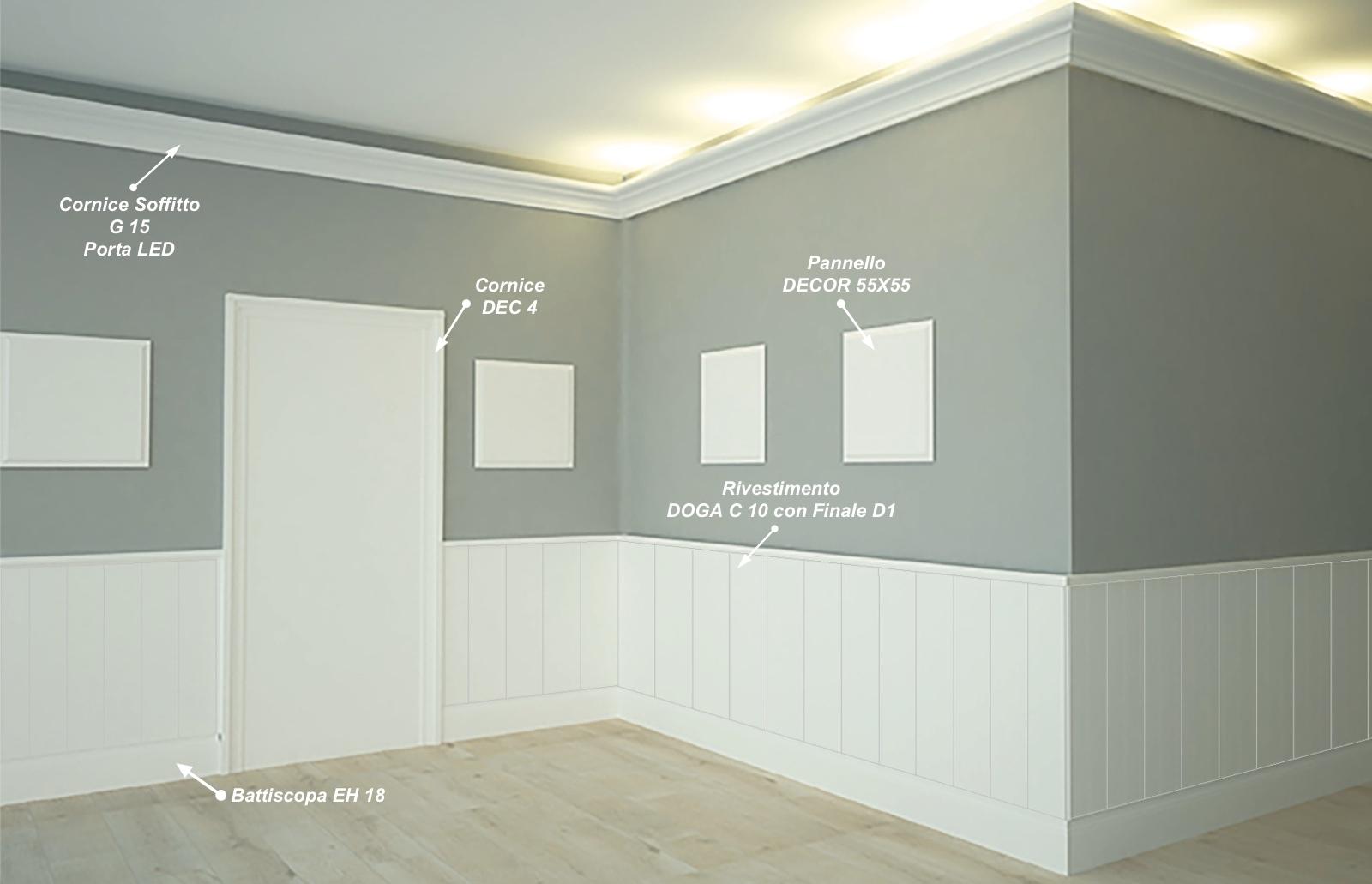 Battiscopa EH 18 - Battiscopa in MDF Light bianco - Decorget - Ital Decori - Image 2