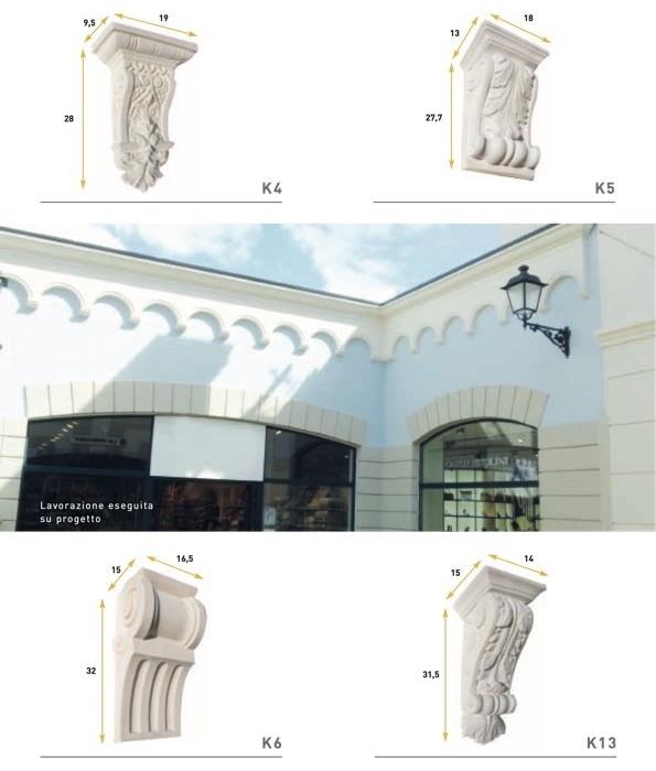 K13 - Mensola stampata in poliuretano - Decorget - Ital Decori - Image 1
