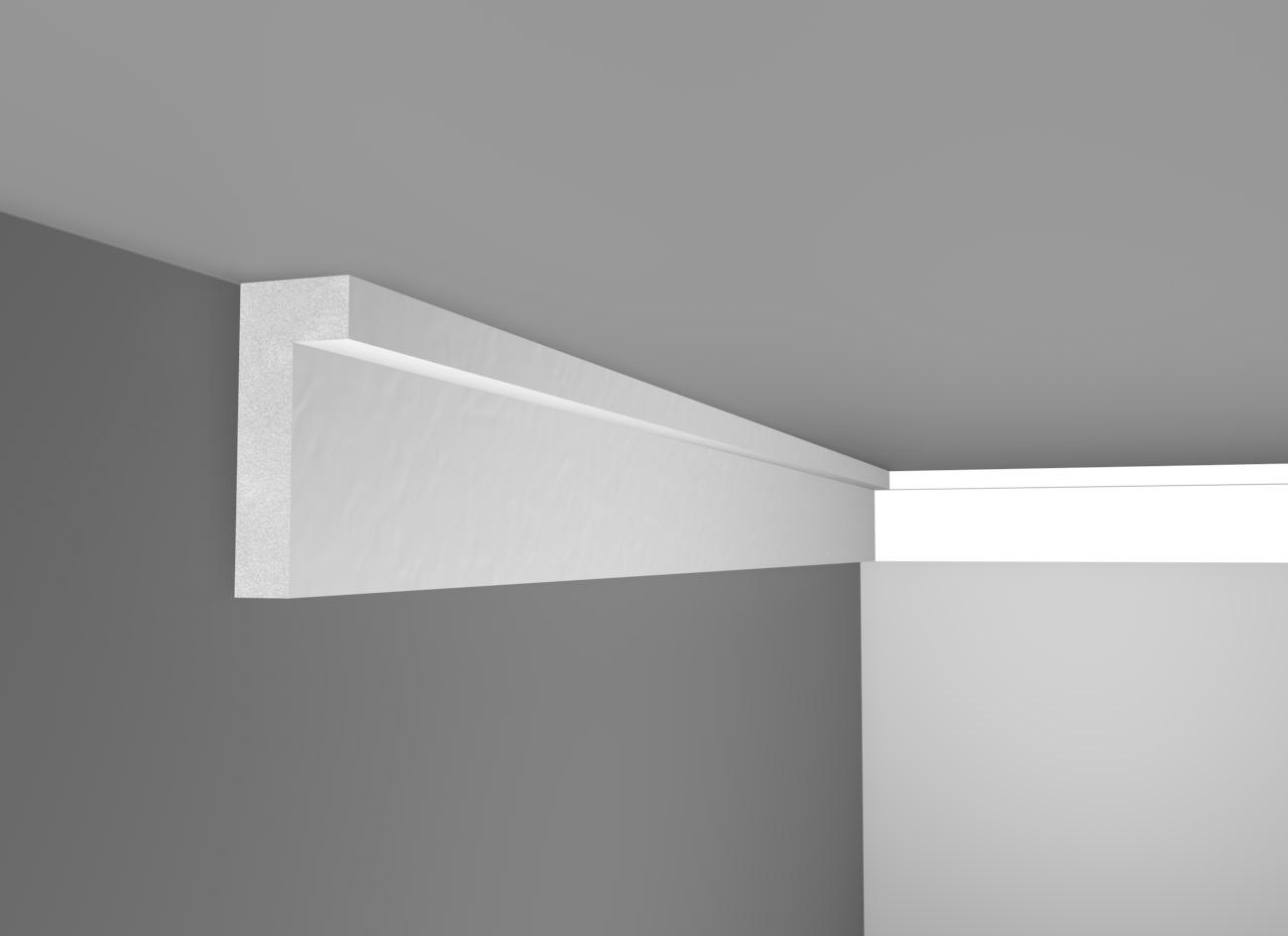 L 10 - Cornice in polistirene gessato bianco - Decorget - Ital Decori - Image 0