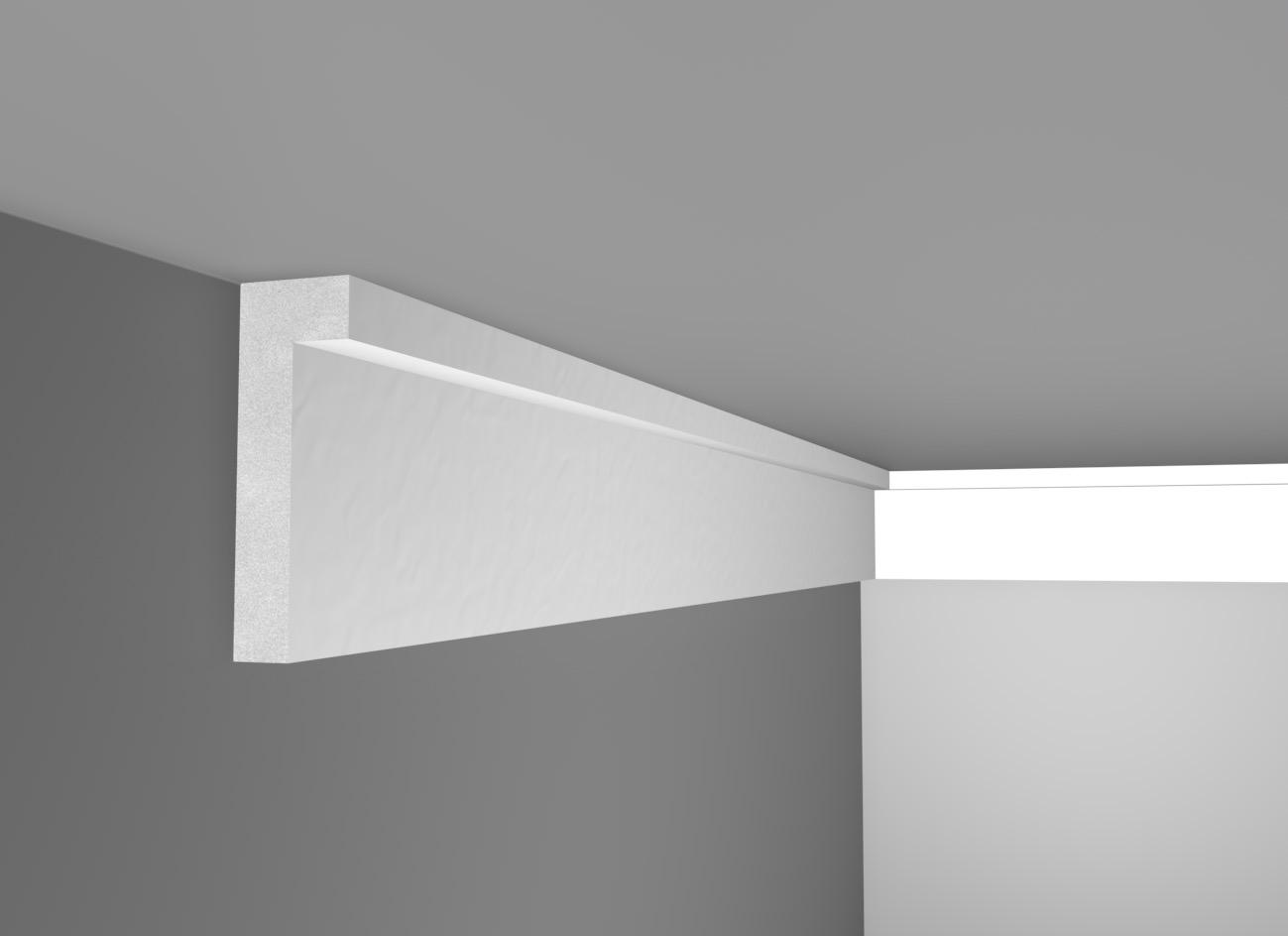 L 12 - Cornice in polistirene gessato bianco - Decorget - Ital Decori - Image 0