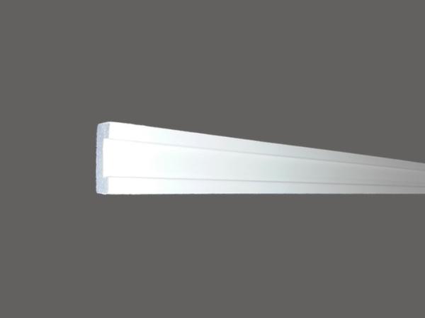 Led 13 - Veletta cornice in polistirene gessato bianco - Decorget - Ital Decori - Image 0