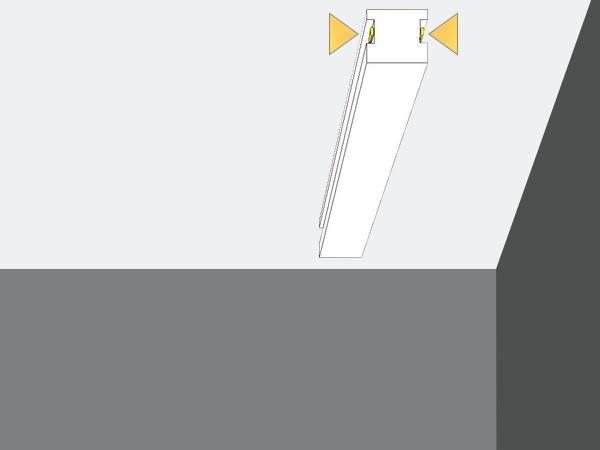 Led 15 - Veletta cornice in polistirene gessato bianco - Decorget - Ital Decori - Image 1