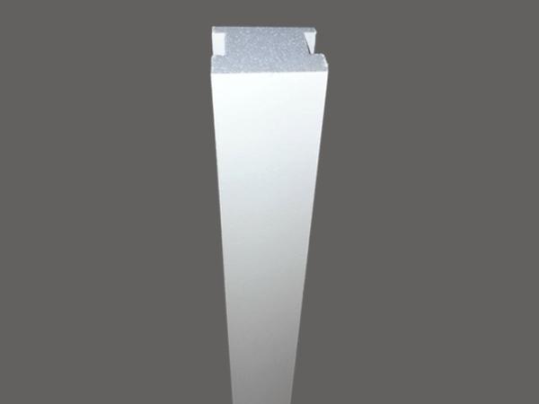 Led 15 - Veletta cornice in polistirene gessato bianco - Decorget - Ital Decori - Image 0