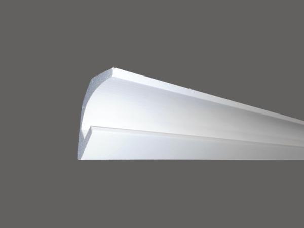 Led C - Veletta cornice in polistirene gessato bianco - Decorget - Ital Decori - Image 0