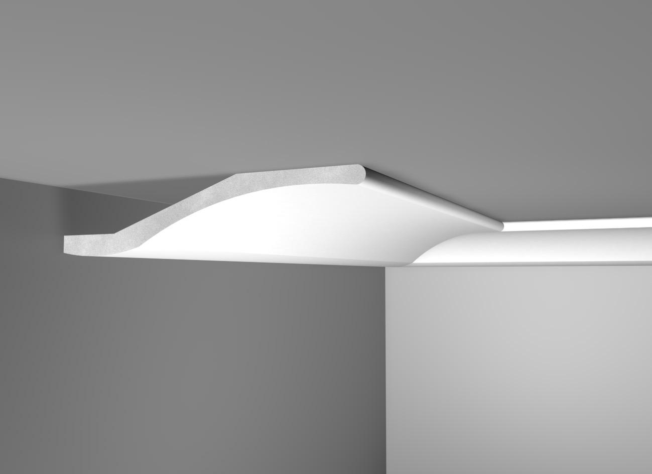 Lux 40 - Cornice in polistirene gessato bianco - Decorget - Ital Decori - Image 0