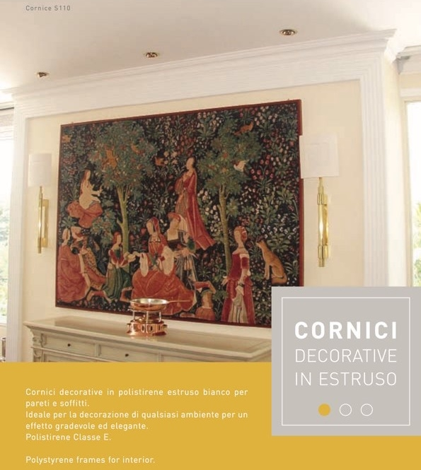 O 45 - Cornice in polistirene estruso bianco - Decorget - Ital Decori - Image 1
