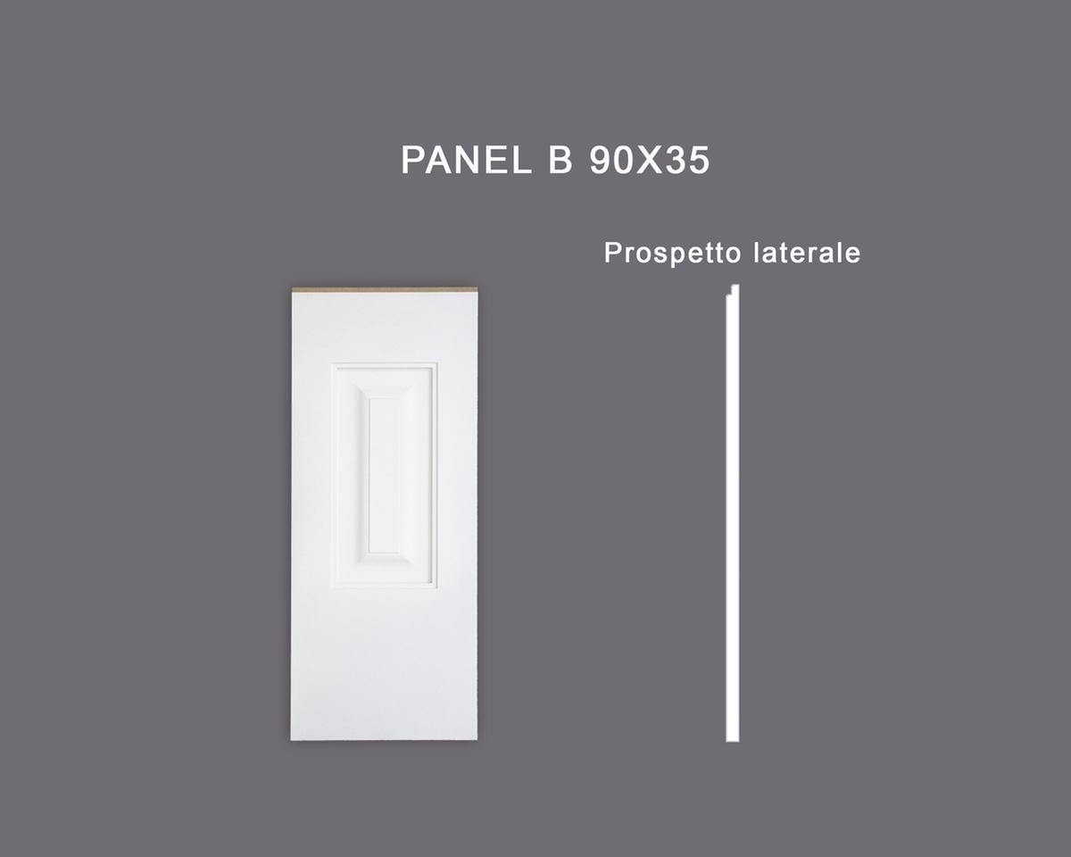 Panel B 90x35 - Pannello in MDF Light bianco - Decorget - Ital Decori - Image 0