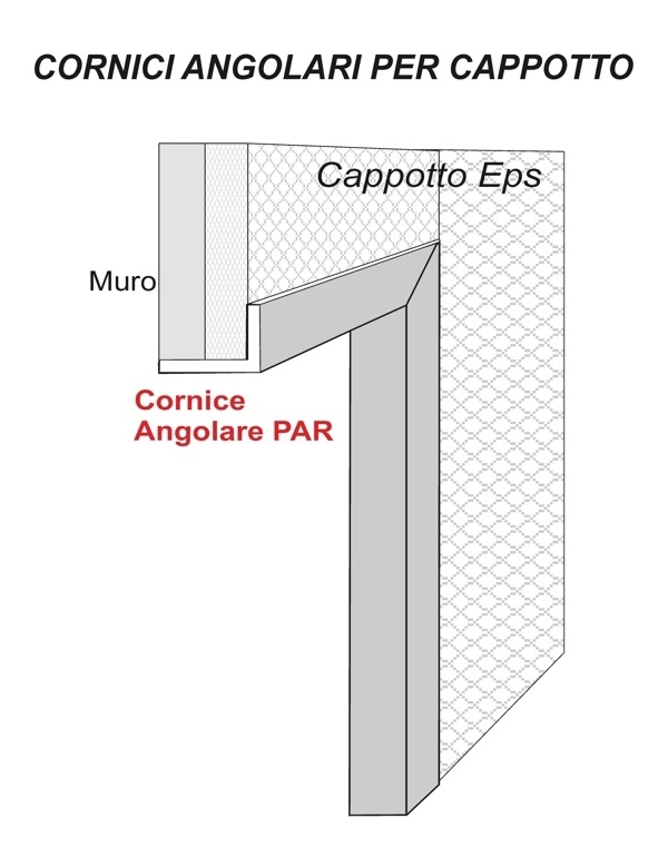 Par 15 - Cornice angolare in polistirene spalmato con graniglie - Decorget - Ital Decori - Image 1