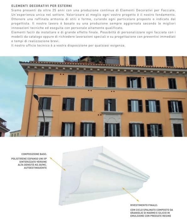 S 101 - Cornice e marcapiano in polistirene spalmato con graniglie - Decorget - Ital Decori - Image 2