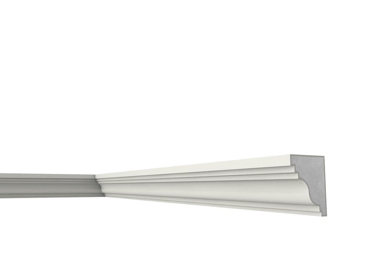 S 75 - Cornice e marcapiano in polistirene spalmato con graniglie - Decorget - Ital Decori - Image 0