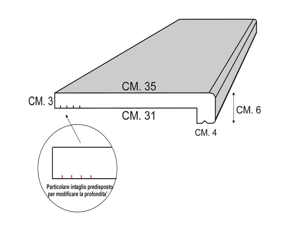 Soglia Alfa 200 - Soglia termica per finestre in EPS spalmato - Decorget - Ital Decori - Image 1