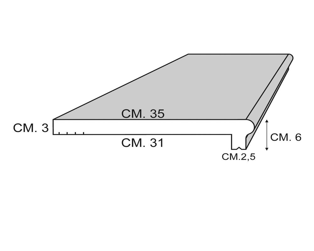 Soglia Beta 200 - Soglia termica per finestre in EPS spalmato - Decorget - Ital Decori - Image 1