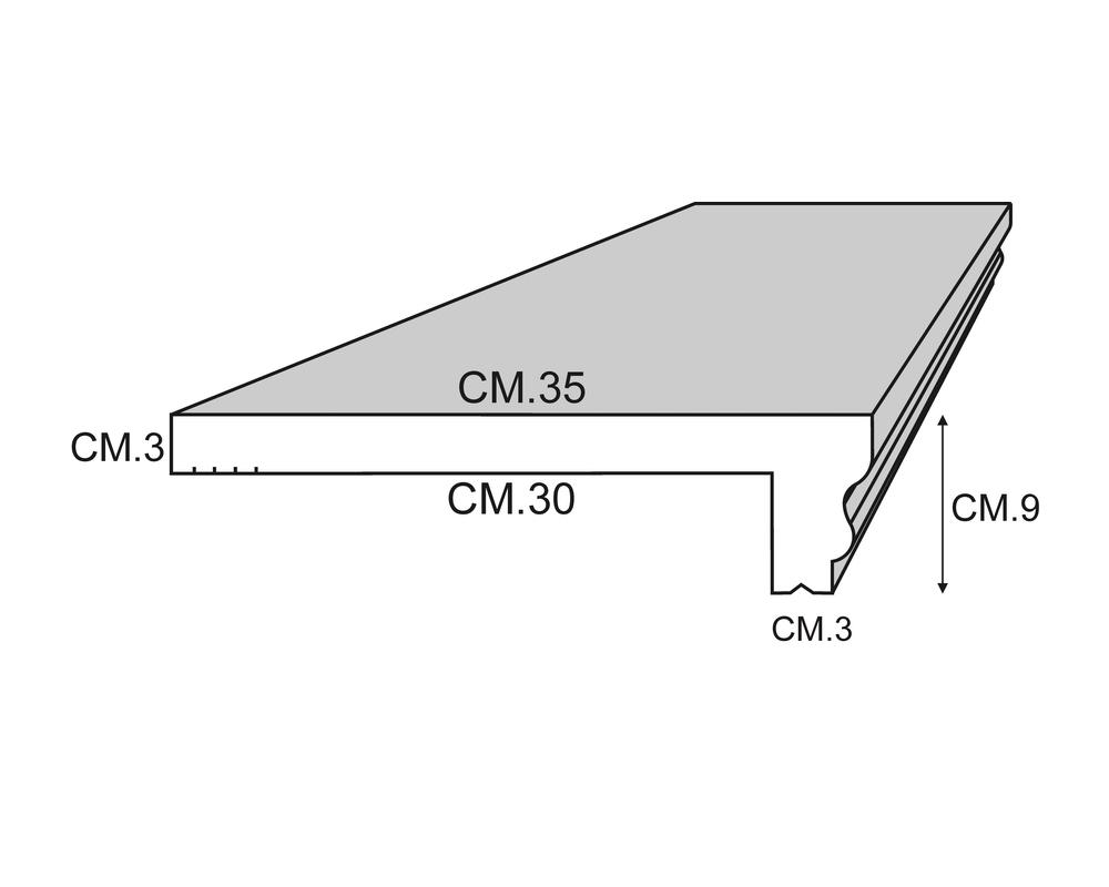 Soglia Sigma 200 - Soglia termica per finestre in EPS spalmato - Decorget - Ital Decori - Image 1