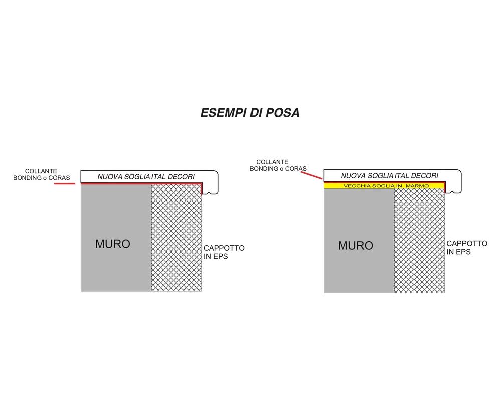 Soglia Alfa 200 - Soglia termica per finestre in EPS spalmato - Decorget - Ital Decori - Image 2