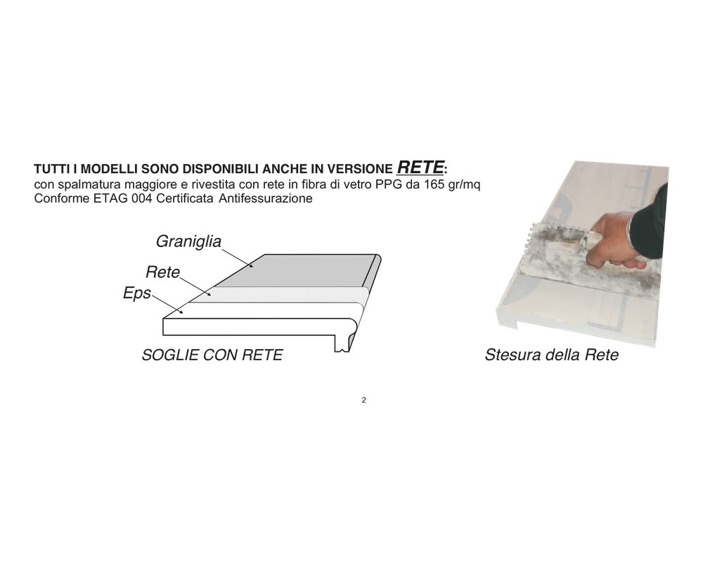 Soglia Beta 150 - Soglia termica per finestre in EPS spalmato - Decorget - Ital Decori - Image 3