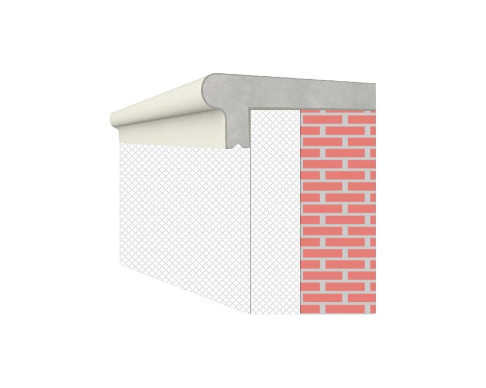 Soglia Alfa 150 - Soglia termica per finestre in EPS spalmato - Decorget - Ital Decori - Image 5